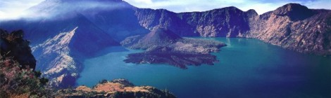 Hiken op de Rinjani vulkaan